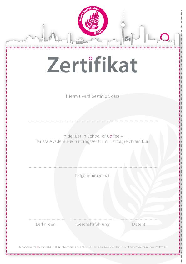 bsoc zertifikat